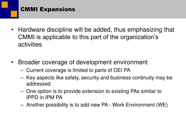 CMMI Expansions