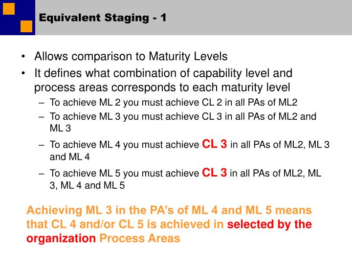 Equivalent Staging - 1