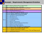 example requirements management evolution