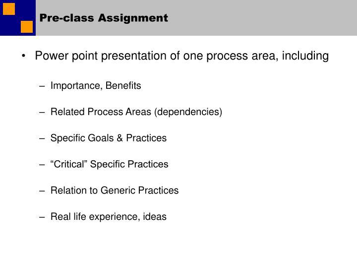 Pre-class Assignment