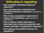 difficulties in regulating