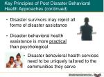 key principles of post disaster behavioral health approaches continued1