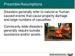 preamble assumptions