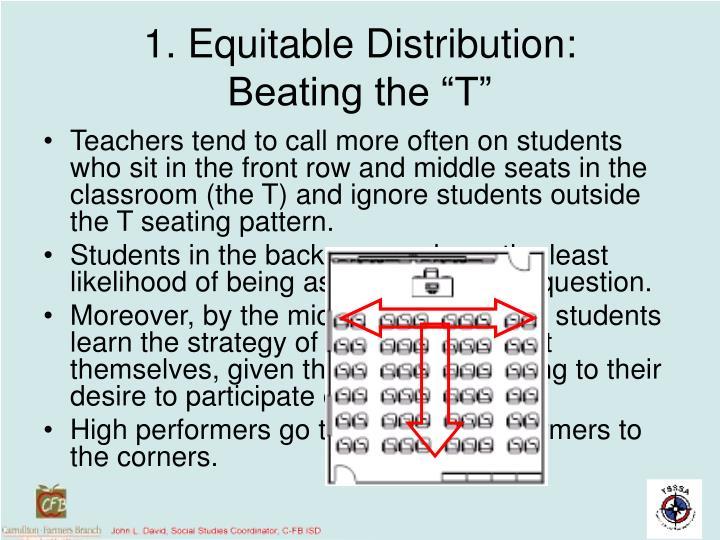 1. Equitable Distribution: