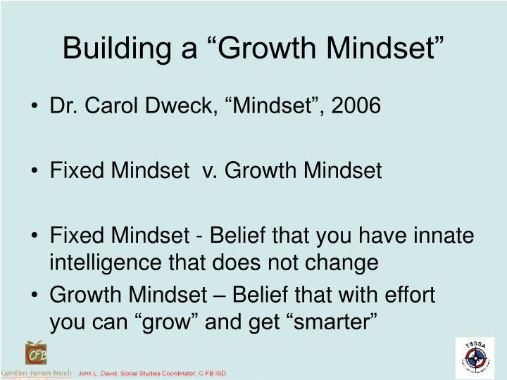 "Building a ""Growth Mindset"""