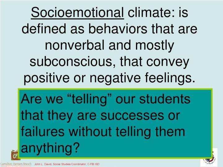 Socioemotional