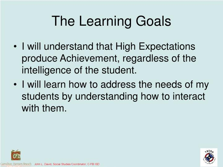 The Learning Goals