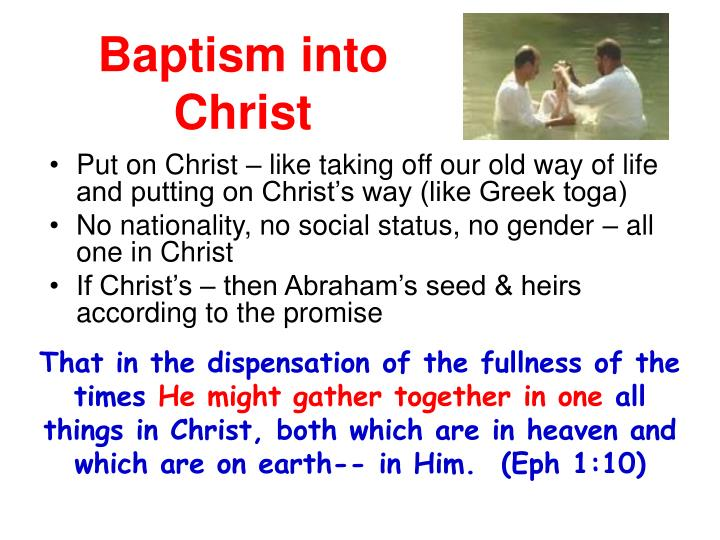 Baptism into Christ