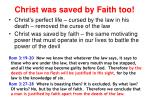 christ was saved by faith too