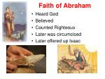 faith of abraham