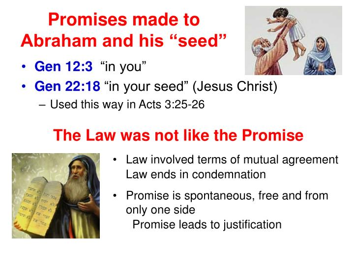 "Promises made to Abraham and his ""seed"""