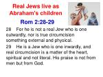 real jews live as abraham s children