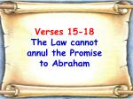 verses 15 18 the law cannot annul the promise to abraham