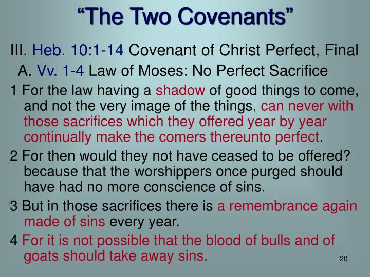 """""""The Two Covenants"""""""