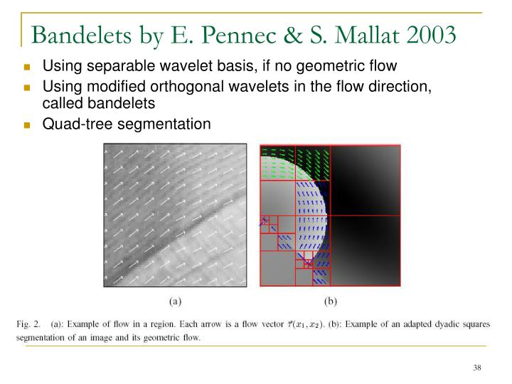 Bandelets by E. Pennec & S. Mallat 2003