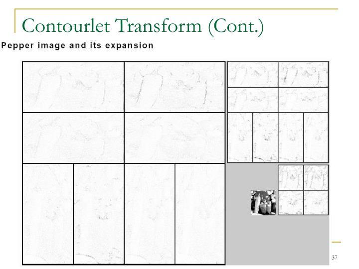 Contourlet Transform (Cont.)