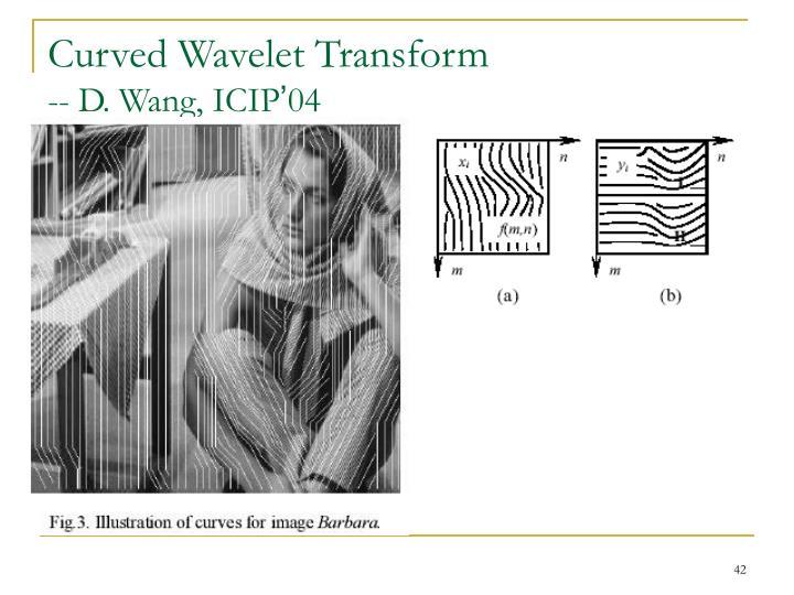Curved Wavelet Transform