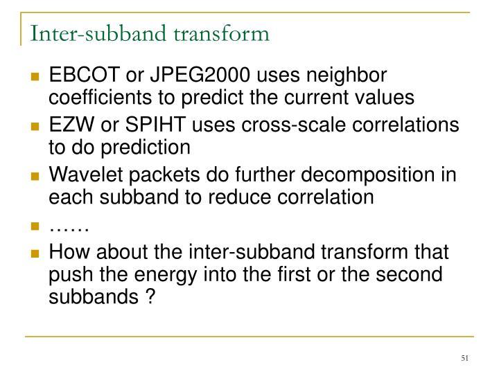 Inter-subband transform