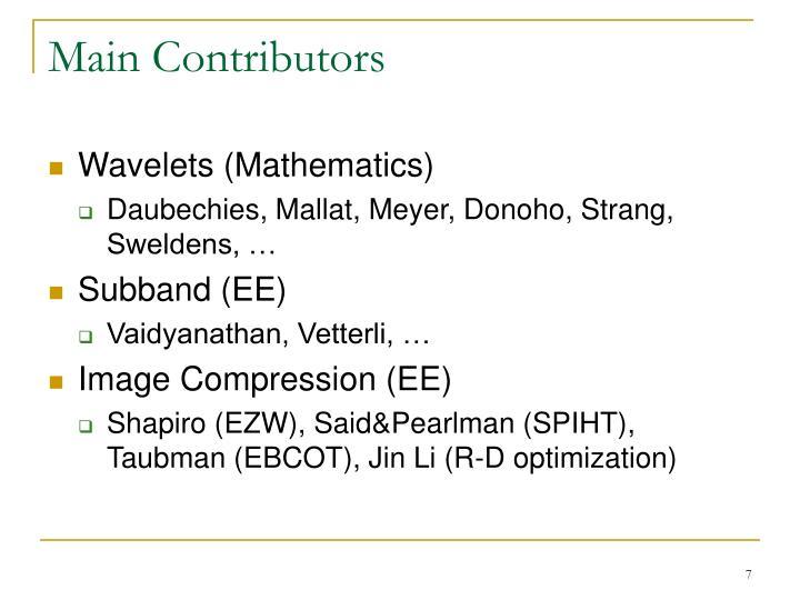 Main Contributors