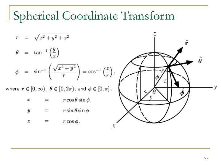 Spherical Coordinate Transform