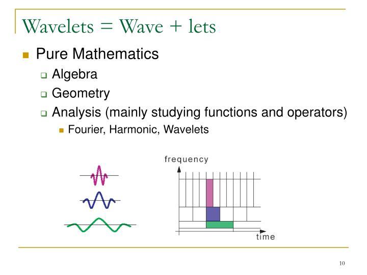 Wavelets = Wave + lets