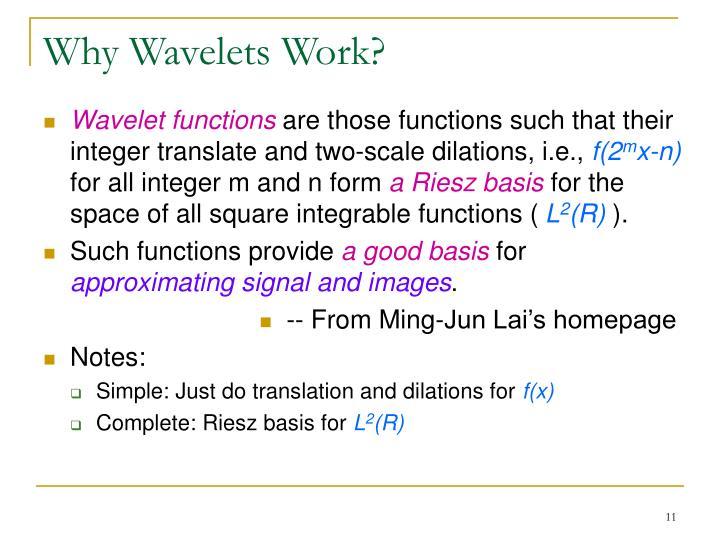Why Wavelets Work?