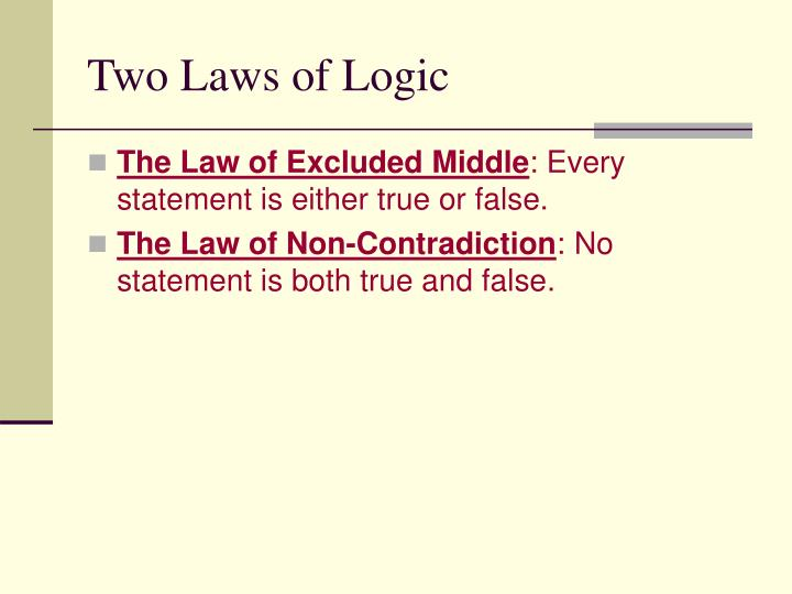 Two Laws of Logic