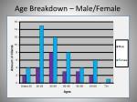 age breakdown male female