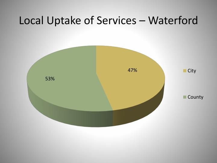 Local Uptake of Services – Waterford