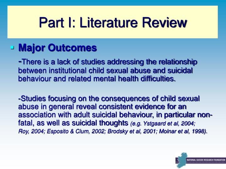 Part I: Literature Review