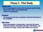 phase 2 pilot study