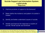 suicide support and information system a pilot study objectives