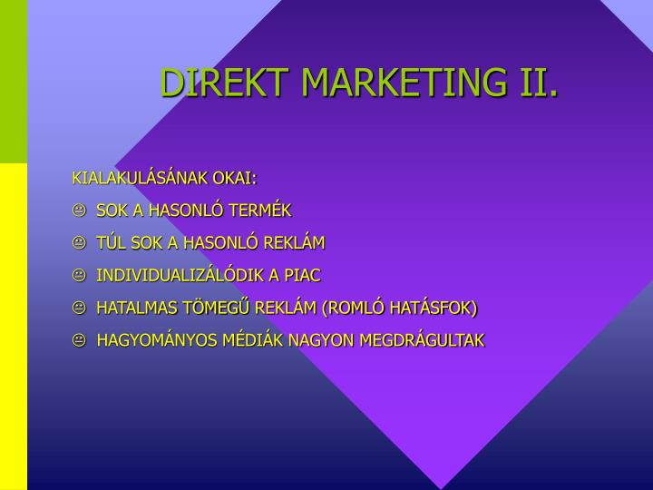 DIREKT MARKETING II.