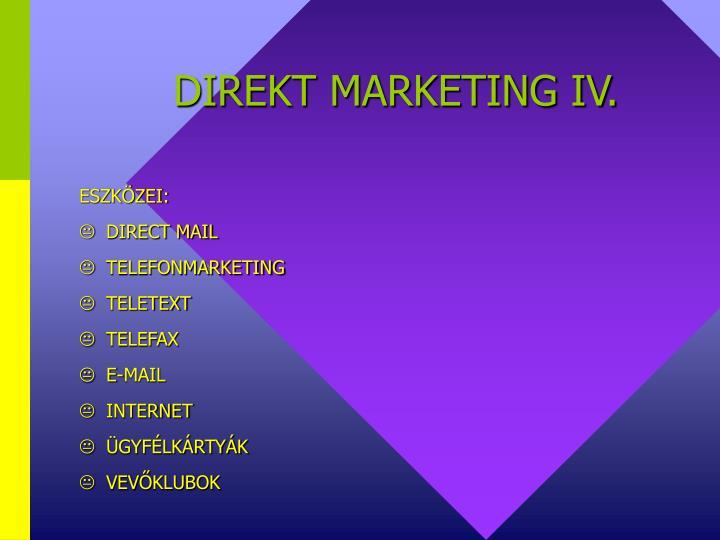 DIREKT MARKETING IV.