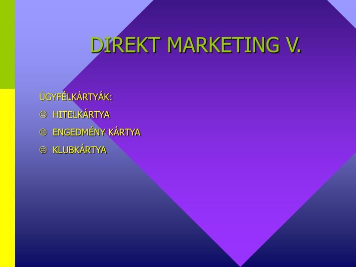 DIREKT MARKETING V.