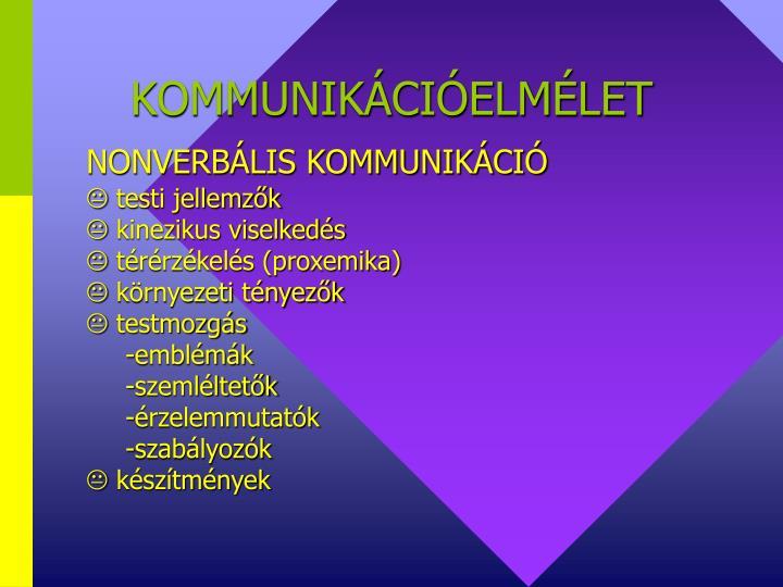 KOMMUNIKÁCIÓELMÉLET
