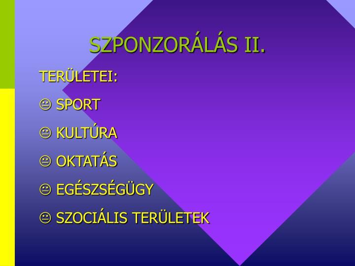 SZPONZORÁLÁS II.
