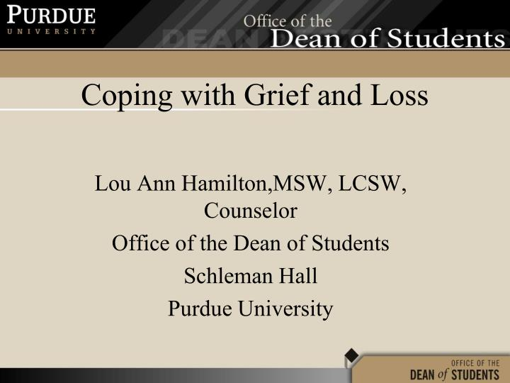 coping with grief and loss