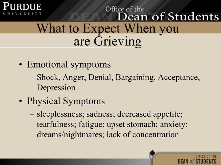 Emotional symptoms