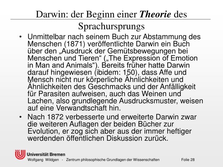 Darwin: der Beginn einer