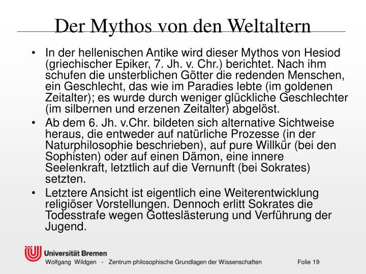 Der Mythos von den Weltaltern