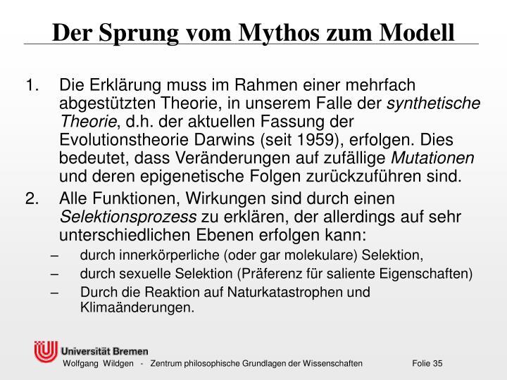 Der Sprung vom Mythos zum Modell