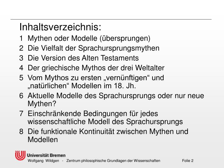Inhaltsverzeichnis: