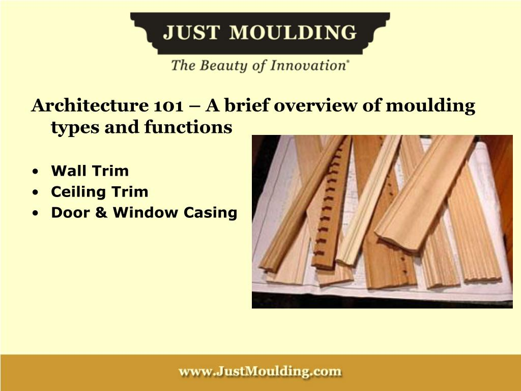 Architecture 101 – A brief overview of moulding types and functions