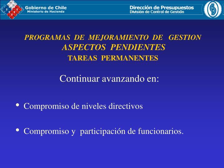 PROGRAMAS  DE  MEJORAMIENTO  DE   GESTION