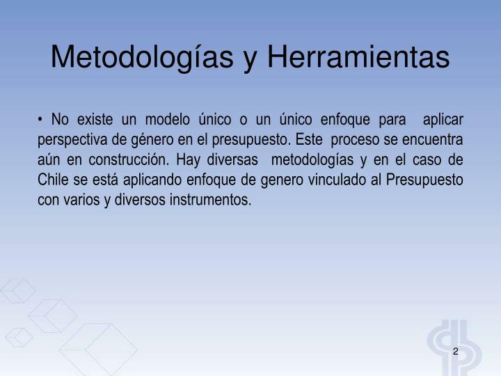 Metodologías y Herramientas