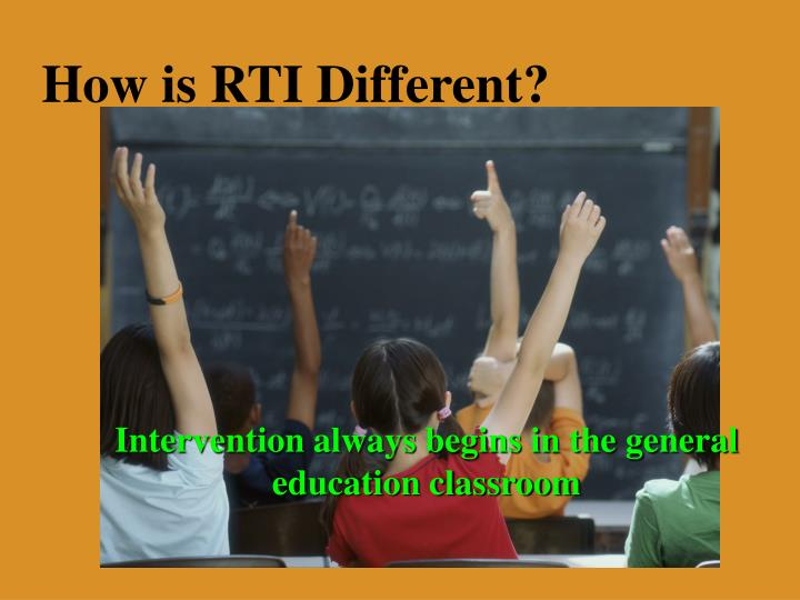 How is RTI Different?