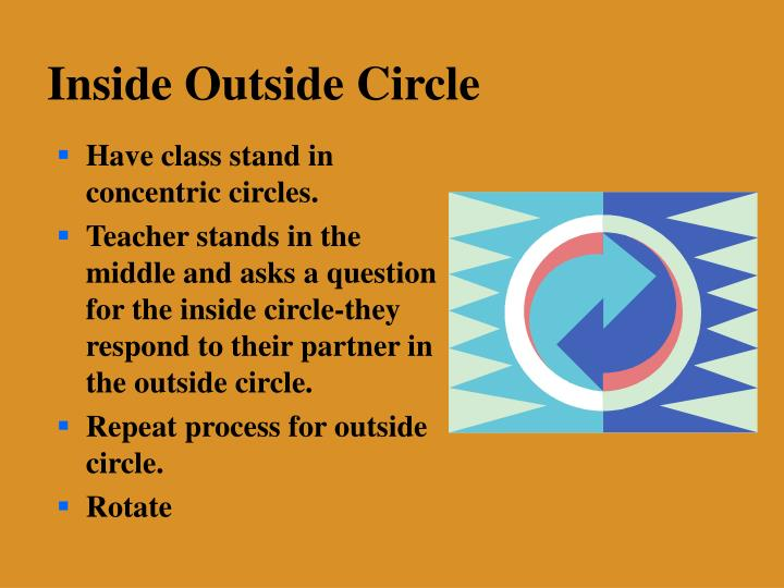 Have class stand in concentric circles.