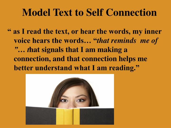 Model Text to Self Connection