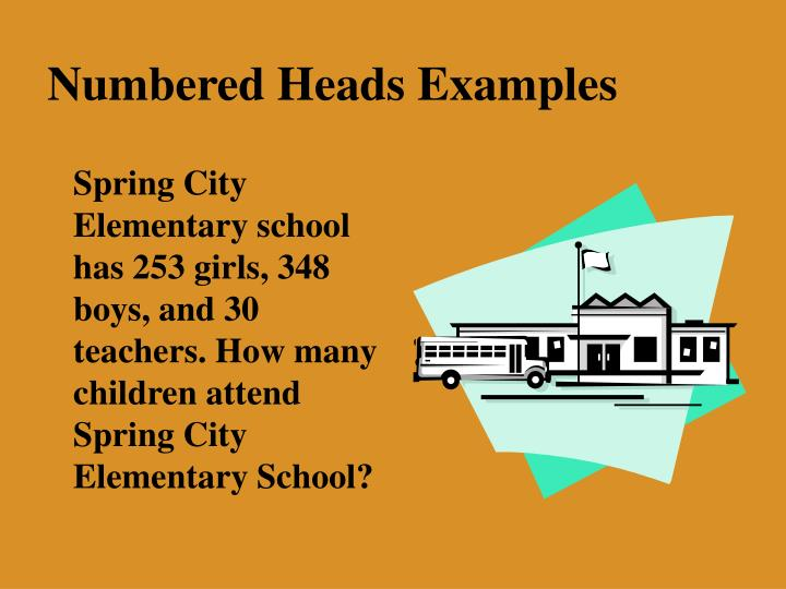 Numbered Heads Examples